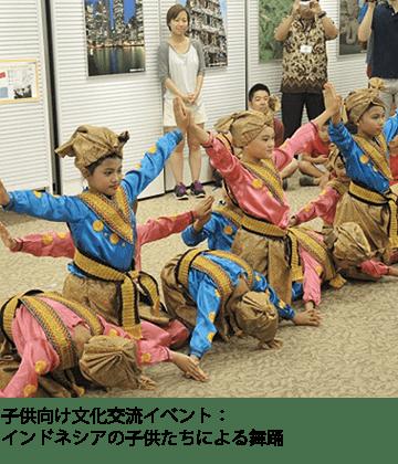 子供向け文化交流イベント:インドネシアの子供たちによる舞踊