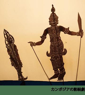 カンボジアの影絵劇